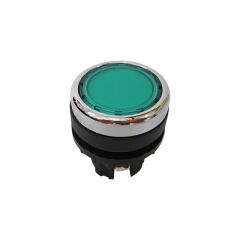 伊顿穆勒 平头弹簧复位带灯按钮头,绿色;A22-RLTR-GN