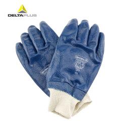 代尔塔 涂层手套 NI155 重型丁晴全涂层针织式,10码;201155-蓝色