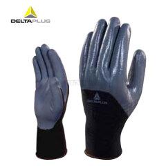 代尔塔 3/4丁腈涂层精细操作手套;201716-黑灰色-8