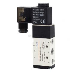 亚德客(AirTAC) 内部先导式电磁阀,2位5通,单电控,DIN插座式;4V21008A