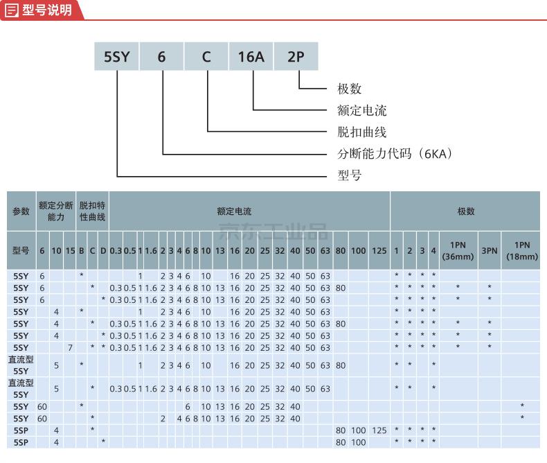 西门子 微型断路器 6A 1P C 6kA;5SY6 1P C6