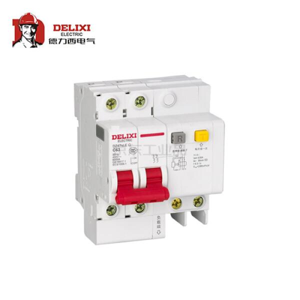 德力西电气 小型漏电保护断路器;DZ47sLE 2P C 63A