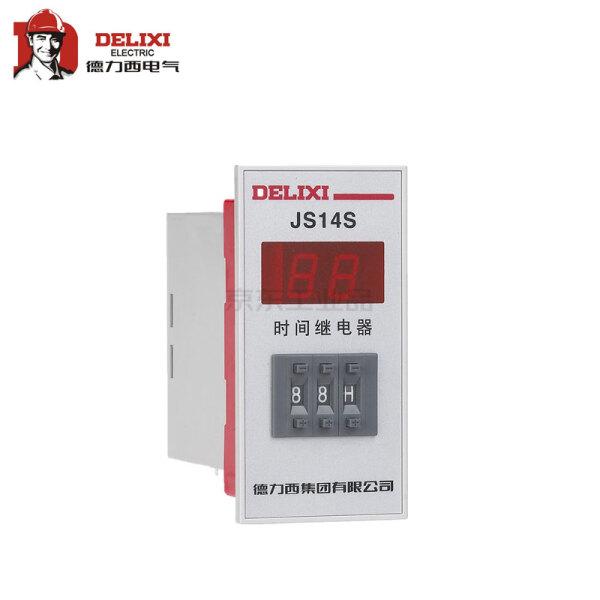 德力西电气 数显式时间继电器;js14s-999m 380v 不可调