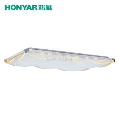 鸿雁 零边系列LED方形吸顶灯,130W,三段调色温;93805388