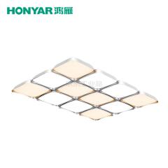 鸿雁 端玉系列LED方形吸顶灯,144W,三段分区调色温;93805371