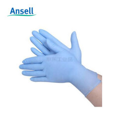 Ansell安思尔 【款】蓝色一次性丁腈手套,0.11mm厚,24cm长(S);4470