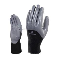 代尔塔 3/4丁腈涂层精细操作手套;201716-黑灰色-9
