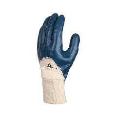代尔塔 涂层手套 NI150 重型手背透气手腕针织松紧式丁腈,10码;201150-蓝色-10
