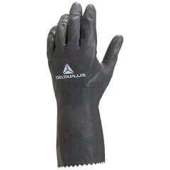 代尔塔 VE530 经济型氯丁防化深蓝色橡胶手套,10码;201530-深蓝色-10