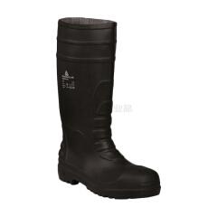 代尔塔 PVC高帮S5安全靴,耐酸碱防砸防静电防刺穿防水,黑色,5双/箱;301407-NO-36