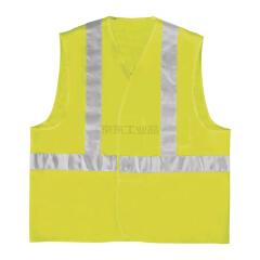 代尔塔 魔术贴荧光反光马甲背心 肩带荧光条 L号黄色,100件/箱;GILP4JAGT