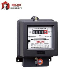 德力西电气 单相电能表;DD862 220V 1.5(6)A 双向