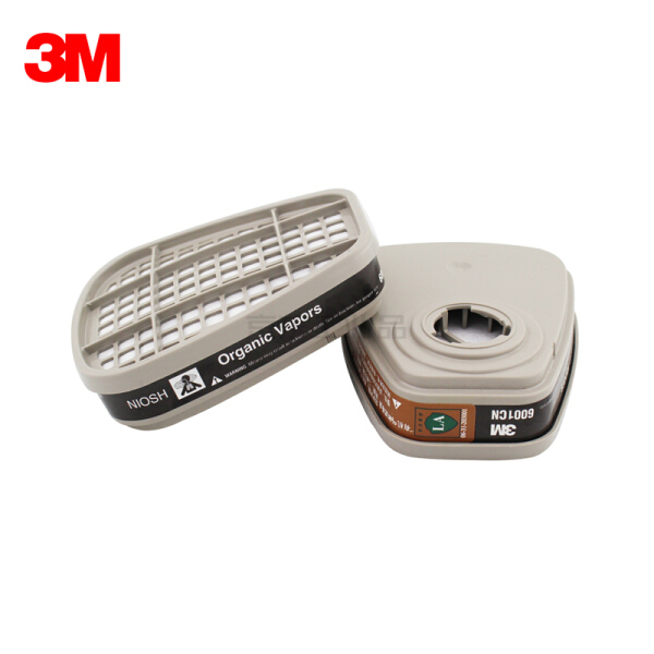 3M 6001CN 有机蒸气滤毒盒,2个/包,可有效防护有机气体及蒸气,如苯及同系物、汽油、丙酮、二硫化碳、醚等;XH003864440