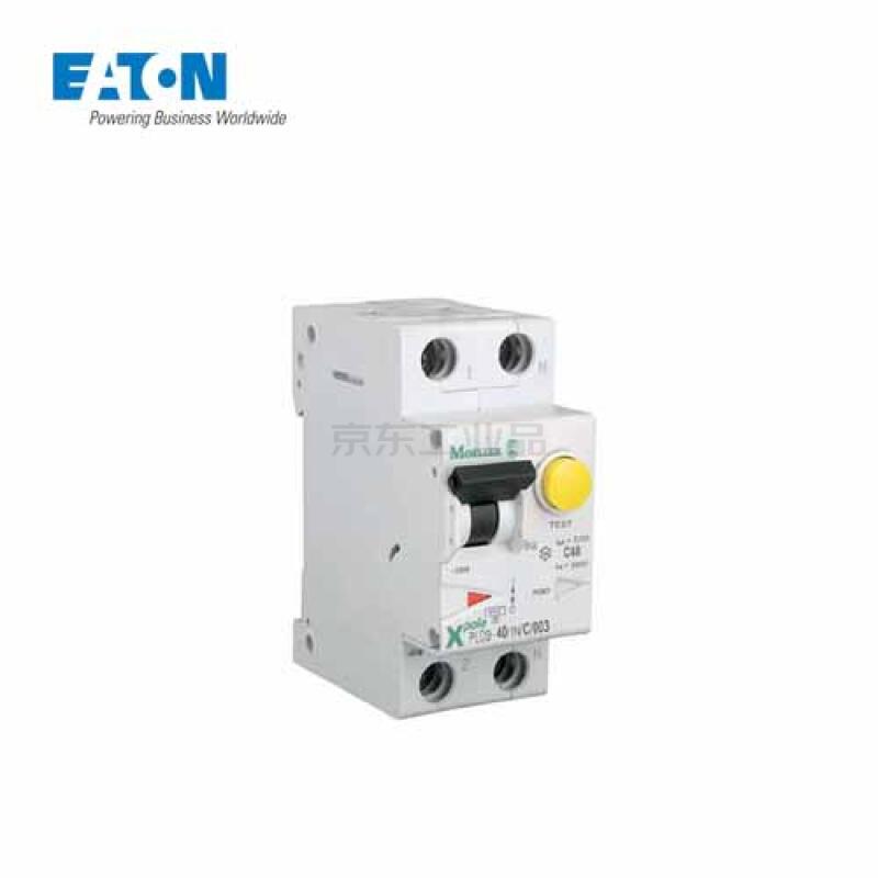 伊顿穆勒 电子式过载保护漏电断路器PLD9,40A,C,1N,30mA,AC,带过压保护;PLD9-40/1N/C/003/UVO