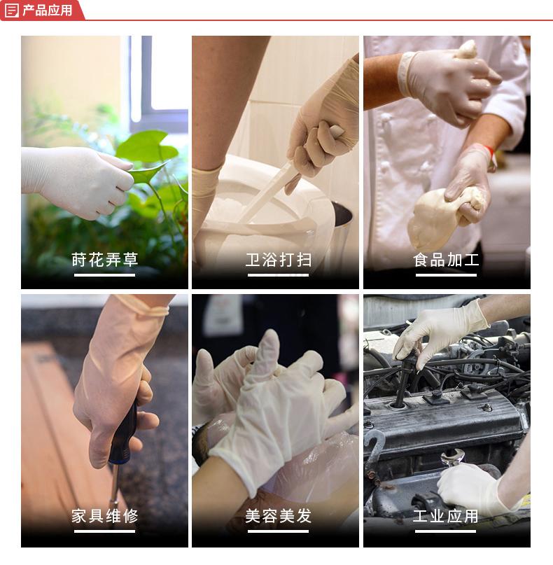 爱马斯(AMMEX) 一次性橡胶检查手套,无粉,大号,100只/盒;TLFCVMD46100