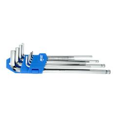 惠象 9件套特长球头工业级内六角扳手组套1.5-10mm;HX0911
