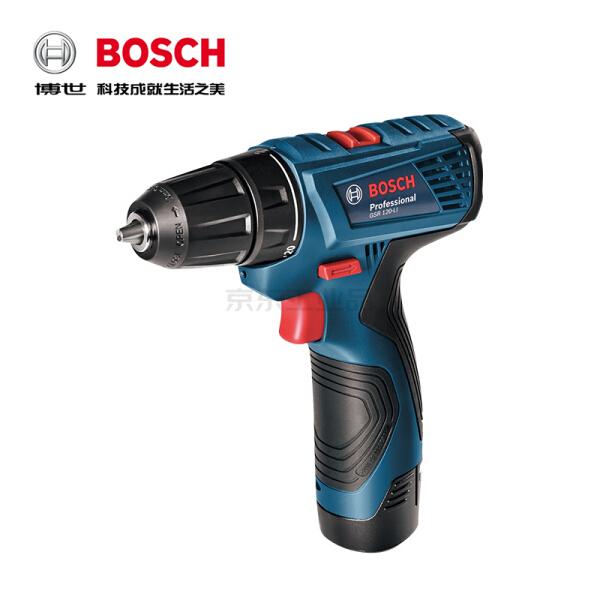 博世(BOSCH) 锂电充电式电钻/起子机(升级款,替代停产的tsr10802/gsr108 );GSR 120-Li 双电版