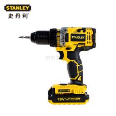 史丹利 18V 锂电充电式电钻起子(吹塑箱)2X2.0Ah电池;STDC1802