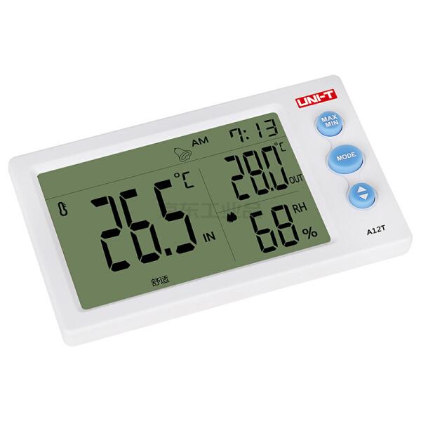 优利德 带探头数字温湿度计,-10~50℃,10-99%RH;A12T