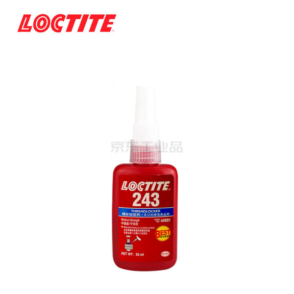 汉高 乐泰(LOCTITE) 蓝色耐油型中等强度螺丝锁固胶,10支/盒,10盒/箱;243 50ml