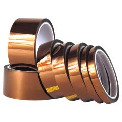 惠象 中性 金手指高温胶带(琥珀色)30mm*33m*50um,200卷/箱;HXGW3033