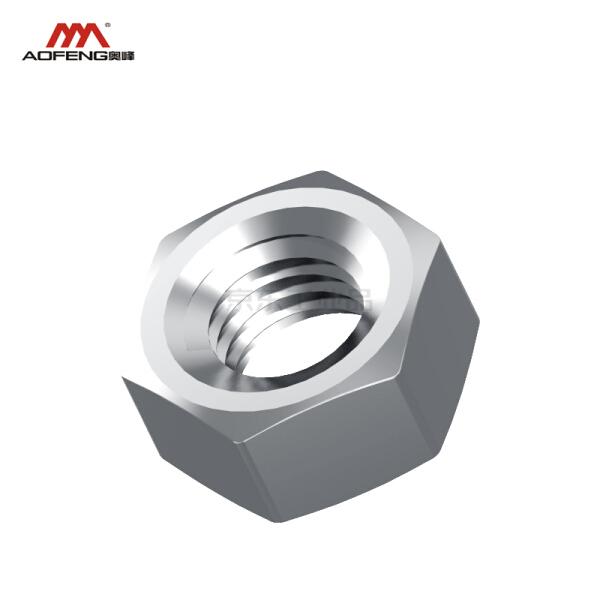 奥展 六角螺母,DIN934,不锈钢304,本色;M8