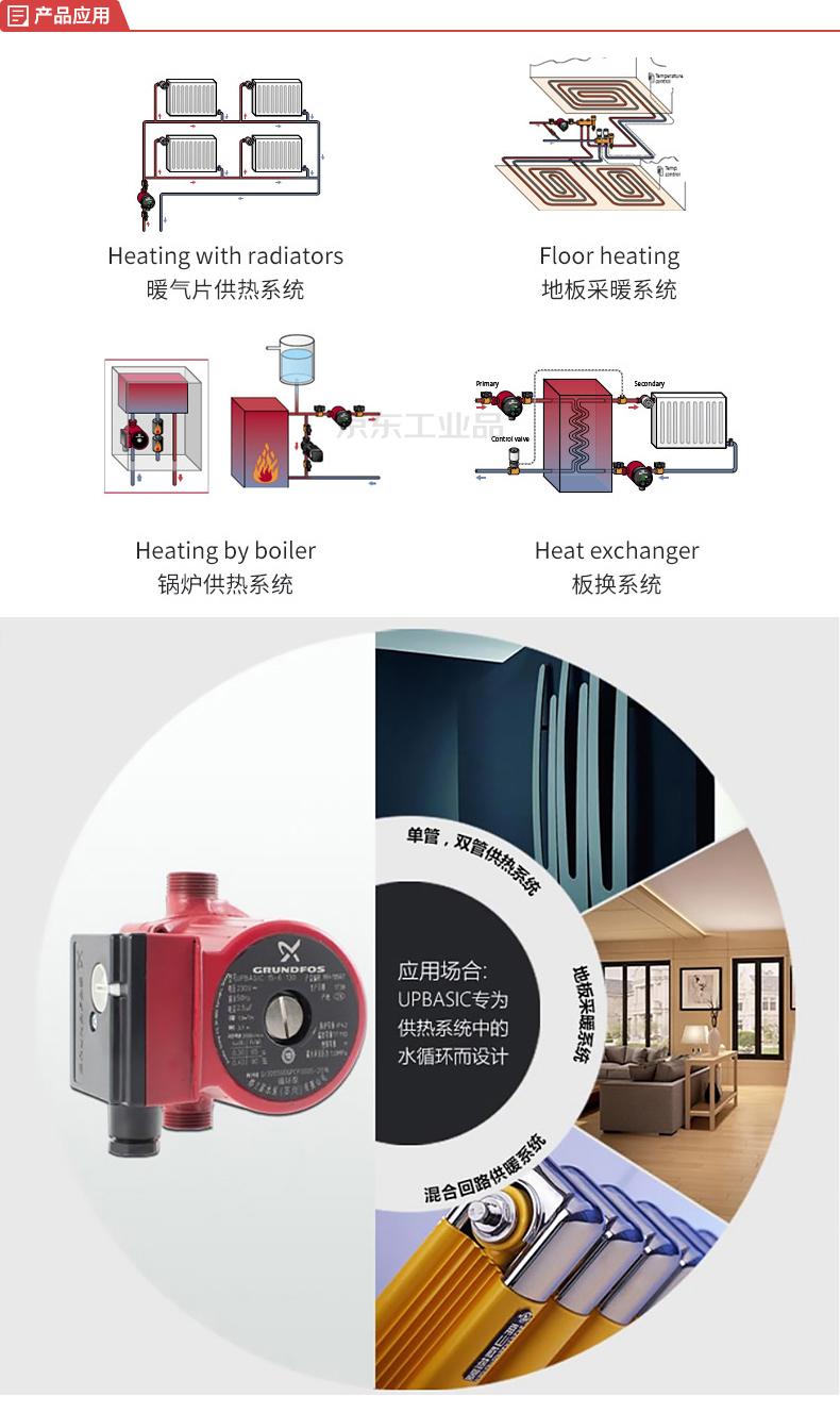 格兰富 热水循环泵UPBasic系列 ;UPBASIC15-6 1'