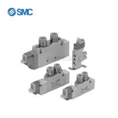 SMC 三位五通电磁阀(中封式),双电控;SY9320-5LZD-03