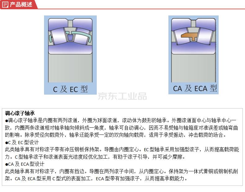 哈轴(HRB) 调心滚子轴承,圆锥孔,2套/箱;22222CAK/W33