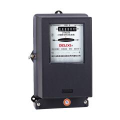 德力西电气 三相三线有功电度表;DS862 3X100V 3X3(6)A互感式