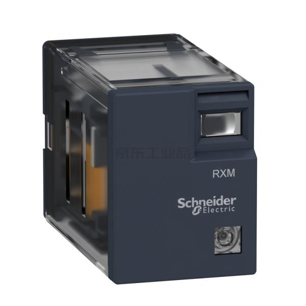 施耐德电气 插拔式中间继电器 2副触点,5A,指示灯,230VAC,10个/盒;RXM2LB2P7
