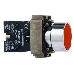 施耐德电气 平头按钮组合型号(带触点基座:ZB2BZ102C+复位按钮头(平头):ZB2BA4C)
