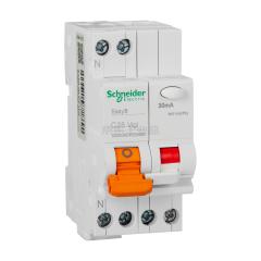 施耐德电气 EA9C45,漏电保护断路器,1P+N,C16A/30mA/A类;MGNEA9C45C1630CA
