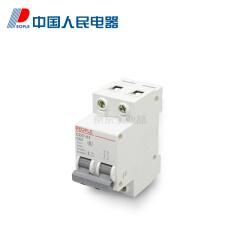 中国人民电器 小型断路器;DZ47-63 C6 2P(OF)