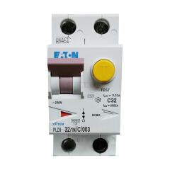 伊顿穆勒 电子式过载保护漏电断路器PLD9,32A,C,1N,30mA,AC,瞬动型;PLD9-32/1N/C/003