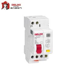 """德力西电气 """"相线+中性线""""漏电保护微型断路器;DZ47PLE 1P+N C 20A"""