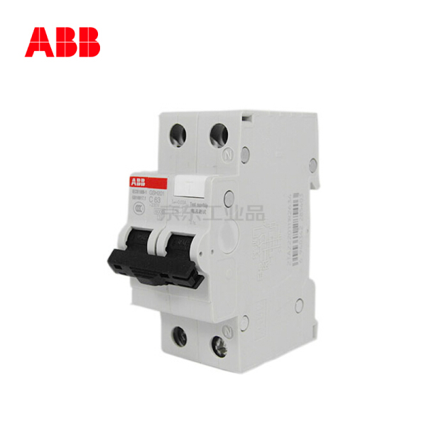 ABB GSH200型带过电流保护的电子式剩余电流保护器,6个/盒;GSH201 AC-C20/0.03