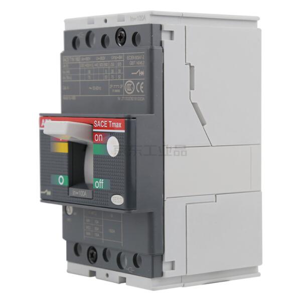 ABB Tmax塑壳断路器,12个/盒;T1N160 TMD100/1000 FFC 3P