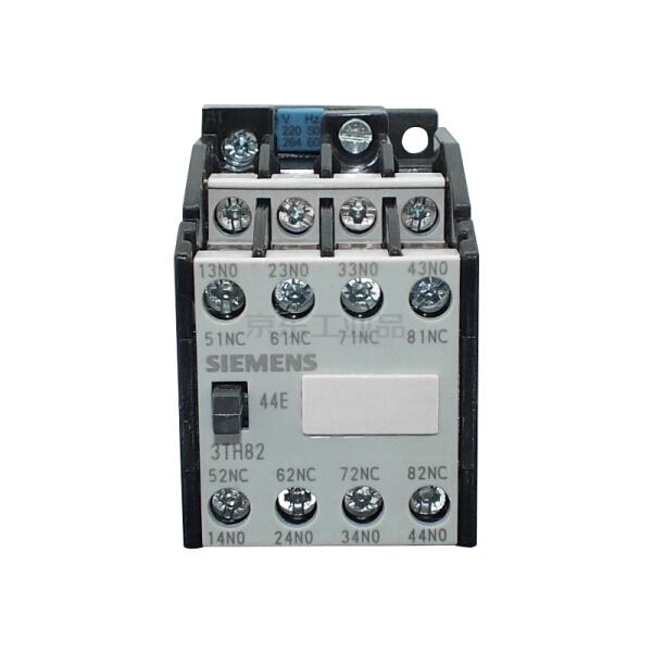 西门子 接触器继电器AC50HZ,220V辅助触点:4个常闭触点,规格0,螺纹连接;3TH82440XM0