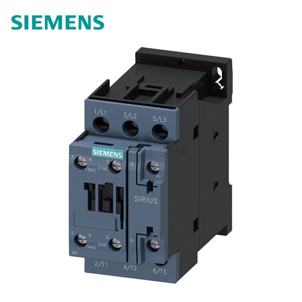 西门子 接触器220VAC50/60HZ  5.5kW 400V辅助触点1个常开触点 1个常闭触点,3极规格S0螺丝端子;3RT60241AN20