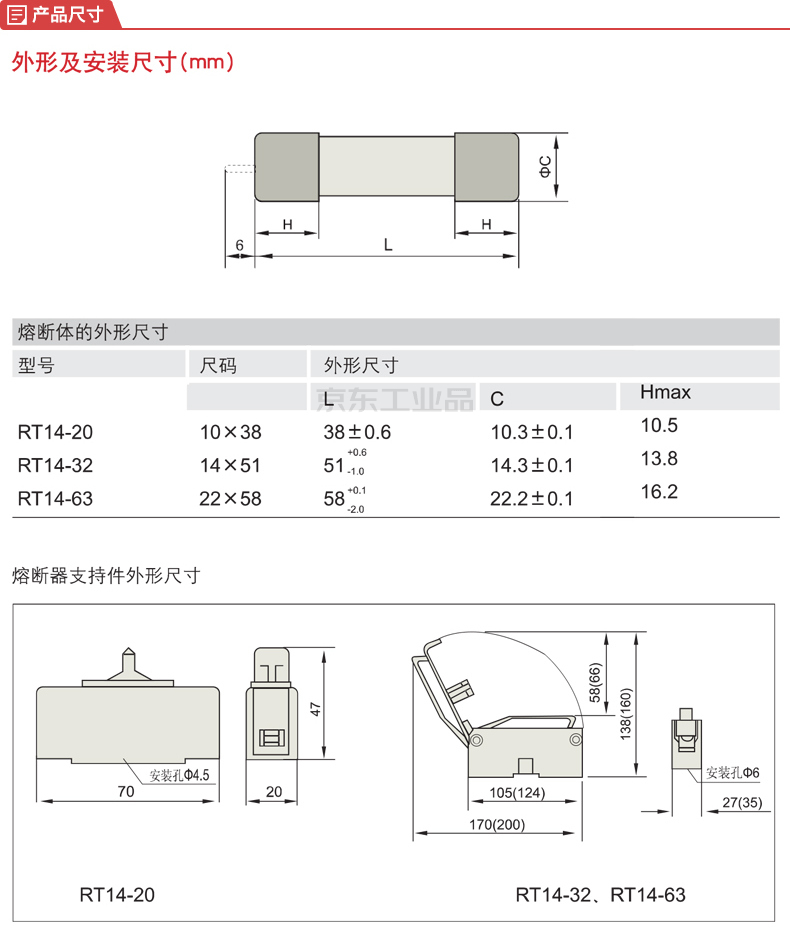 德力西电气 圆筒形帽熔断器 RT14(RT18) AC380V/500V 10A Φ10X38