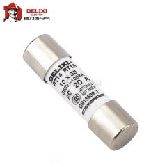 德力西电气 圆筒形帽熔断器 RT14 AC380V/500V 20A Φ22X58