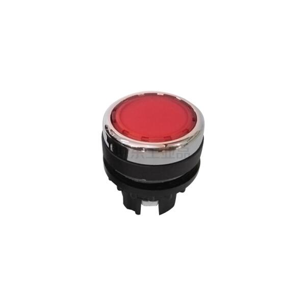 伊顿穆勒 平齐弹簧复位带灯按钮头,红色;A22-RLT-RT