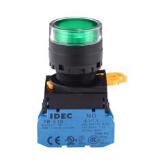 和泉 按钮开关,绿色;YW1L-MF2E10Q4G