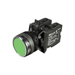 伊顿穆勒 平头按钮一开一闭,绿色;A22-RD03/K11
