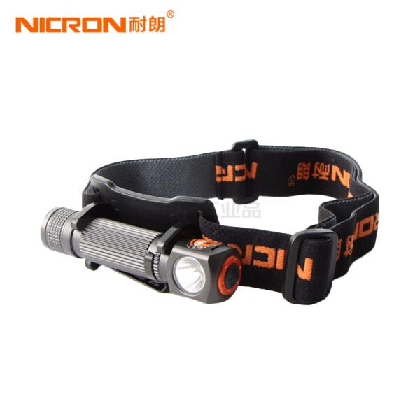 耐朗(NICRON) 充电式迷你铝合金头灯;H10R