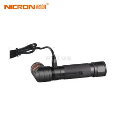 耐朗(NICRON) USB直充磁吸可转角手电筒 带专业紫光;B75