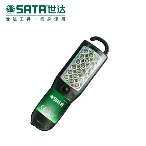世达 18LED锂电充电式防水手电筒;90705A