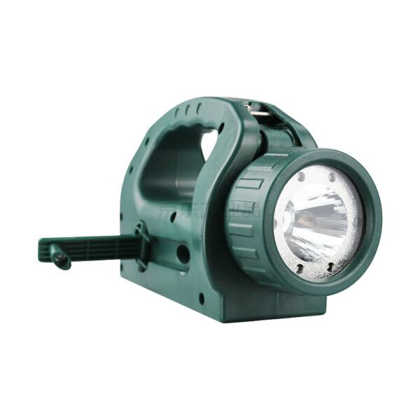 深照紫光 手摇充电巡视工作灯,LED,3.7V,IP66;YJ1034