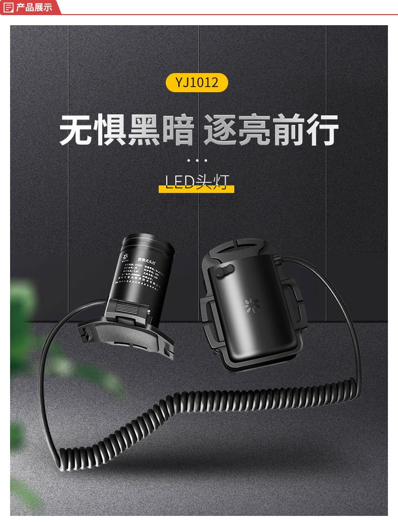 深照紫光 便携式头灯,3.6V,2000mAh;YJ1012
